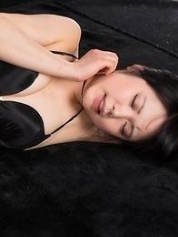 Yui Kawagoe dresses up a as a schoolgirl to masturbate, gets thigh-fucked